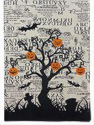 Spooky Halloween Tree table Runner via Traditions online