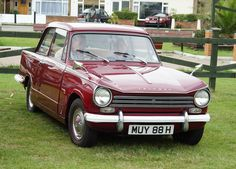 Triumph 13/60 Saloon. The 13/60 was offered in saloon, convertible and estate-bodied versions. The sun-roof remained available for the saloon as an optional extra rather than a standard feature. The front end was restyled using a bonnet similar to the Triumph Vitesse's and the interior substantially revised though still featuring the wooden dashboard.