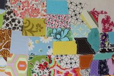 Colorful Fabric Scrap Map — See Kate  Sew