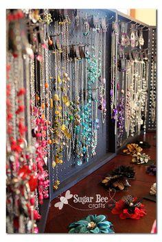 Peg Board Jewelry Display Case.