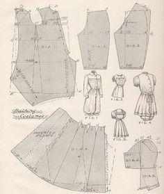 Victorian bathing costume pattern