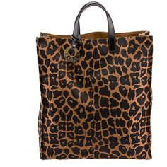 Pre-owned Fendi Leopard Print Nylon Tote ($299) ❤ liked on Polyvore featuring bags, handbags, tote bags, nylon tote bag, nylon tote, fendi tote, leopard print handbags and animal print purses