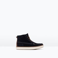 ZARA - KIDS - NAUTICAL LEATHER ANKLE BOOTS
