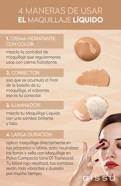 Existen muchas formas para usar el Maquillaje Líquido. Si no las sabes, ahora las conocerás.