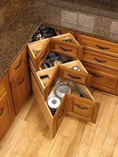 I think this is way better than the lazy susan style cabinet.