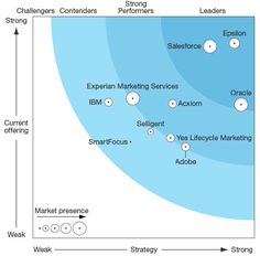 The 2016 Forrester Wave Email Marketing vendors.