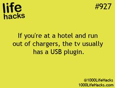 This applies to hotels with newer TVs hack