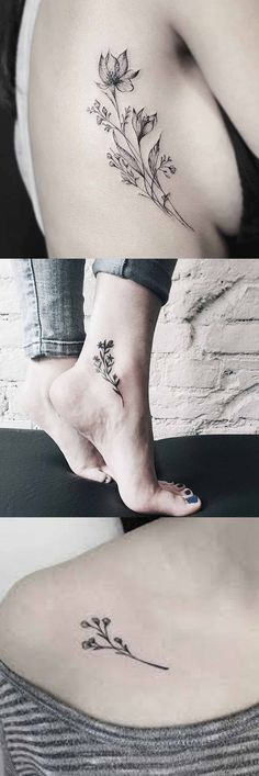 30 Delicate Flower Tattoo Ideas Vintage Wild Rose Tattoo Ideas for Women - Flower Ankle Foot . Dream Tattoos, Mini Tattoos, Body Art Tattoos, Small Tattoos, Foot Tattoos For Women, Womens Ankle Tattoos, Foot Tatoos, Delicate Tattoos For Women, Tattoo Women