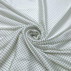 f884b5207 Tecido satim toque de seda off white poá preto - Maximus Tecidos | Loja  Online