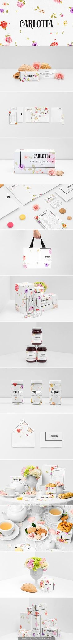 """You don't even have to like flowers to appreciate this beautiful Carlotta by Anagrama identity, packaging, branding curated by Packaging Diva PD created via <a href=""""https://www.behance.net/gallery/20653269/Carlotta"""" rel=""""nofollow"""" target=""""_blank"""">www.behance.net/...</a>"""