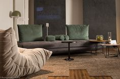 WANTED Interiors, presented by Sony Life Space UX, in partnership with Alpi, Ligne Roset, Alcantara and FontanaArte Spa. The concept and design were created by interior design students at Pratt Institute of Design in collaboration with Rockwell Group.