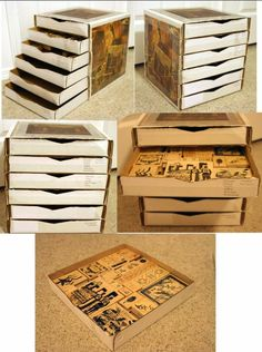 Pizza Box - Drawers