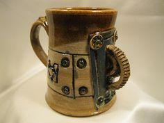 Steampunk ceramic coffee mug 4 by FeltropeStudios on Etsy, $20.00