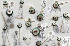 Cet artiste utilise des objets du quotidien pour compléter ses croquis de façon très fantaisiste