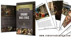 """Each unit of The Greeks comes with a """"Guide to the Art"""" booklet. Here's a peek at what the """"Drama and Lyric"""" guide looks like."""