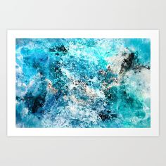 Water's Dance Art Print by Caleb Troy. Worldwide shipping available at Society6.com. Just one of millions of high quality products available.
