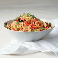 Fried Brown Rice with Red Pepper and Almond by Cooking Light