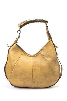 Vintage Yves Saint Laurent Leather Handbag Yellow Leather 499b2db1ea6e8