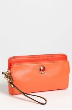 COACH  Poppy  Double Zip Leather Wallet  f98680c43f611