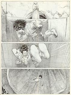"""Moebius. Página de """"Hermético absoluto"""",1977."""