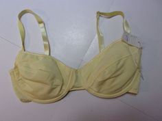 fbb1b3c24c576 NOS Push-up U wire Bra Vintage Sz 34 C 92% Nylon Padded Yellow Solid Color  NWOT  fashion  clothing  shoes  accessories  womensclothing  intimatessleep  (ebay ...