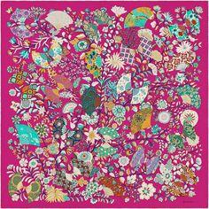Scarf 90 Hermès | Fleurs et Papillons de Tissus