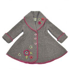 Isadora Swing Coat Grey made in the USA