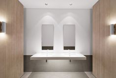 :: BATHROOMS :: The Pavilion, Downtown  Dubai | United Arab Emirates | Completed 2010 - simple & timeless #bathrooms
