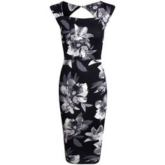Boohoo Bex Monochrome Floral Sweetheart Midi Dress ($35) ❤ liked on Polyvore featuring dresses, bodycon dress, blue dress, sequin dress, bodycon maxi dress and floral maxi dress