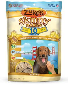 Zukes Skinny Bakes Dog Treats Peanut Butter and Banana 10Calories 12Ounce *** Check out the image by visiting the link. This Amazon pins is an affiliate link to Amazon.