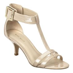 """Sigle sole t-strap 2.5"""" sandal with buckle closure.  This style is available exclusively @ Nine West Stores & ninewest.com."""