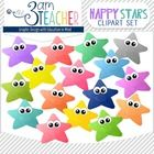 This set includes 16 colorful Happy Star Clip Art images!!   (line art not included)   All images are in PNG format (translucent background) 300 DP...