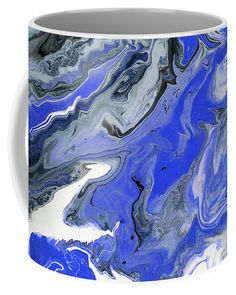 The Rivers Of Babylon Fragment. Abstract Fluid Acrylic Painting Coffee Mug by Jenny Rainbow. Rainbow Coffee, Mugs For Sale, Fluid Acrylics, Rivers, Fine Art Photography, Coffee Mugs, Tapestry, Ceramics, Abstract
