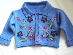 6-12 months by mootthing, via Flickr-Embroidered Jacket by Debbie Bliss