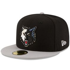 best service 68524 aa6c1 Minnesota Timberwolves New Era Official Team Color 2Tone 59FIFTY Fitted Hat  - Black Gray Minnesota