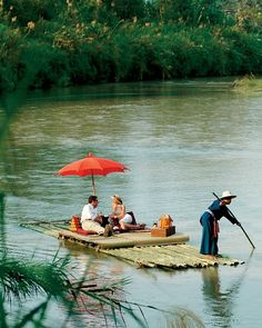 A picnic for two on the lazy river at @Four Seasons Tented Camp Golden Triangle. Does it get any dreamier?