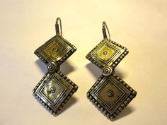 Antique silver gilded earrings from Aghanistan by tribalgallery, $275.00