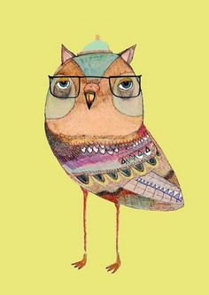 Owl Art Print by Ashley Percival thru Etsy