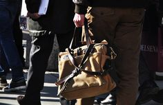 The Filson original briefcase is a man's bag.