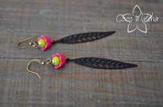 Boucles d'oreilles Hibiscus Fuschia par CocoMatcha sur Etsy