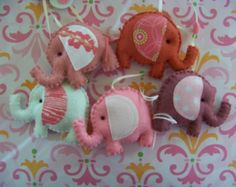 """Baby Mobile - Baby Crib Mobile - Elephant Mobile -  Nursery Baby Room """"Elephants Parade"""" (You can pick your colors)"""