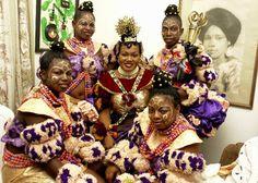 Nigerian bridal accessories - Efik bride #Traditional, #headgear, #Nigeria