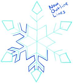 Step 07 snowflakes1 How to Draw a Snowflake Step by Step Drawing Tutorial