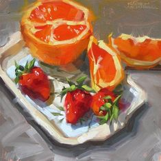 "Daily Paintworks - ""Cara Cara"" - Original Fine Art for Sale - © Karen Werner"