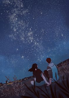 Together lets seat under the open sky.and gaze the stars nd moon.bt i have 2 moons to gaze.nd talk abt dreams.more nd laugh.nd 🙇forget all bads. Ps Wallpaper, Wallpaper Animes, Anime Scenery Wallpaper, Cute Couple Drawings, Cute Couple Art, Anime Love Couple, Hd Anime Wallpapers, Cartoon Kunst, Cartoon Art