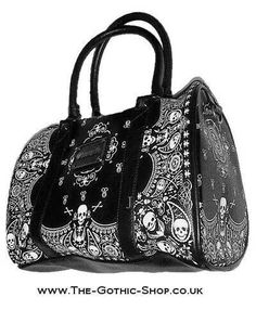 Spiral Direct Burnt Rose Studded Shopper Tasche (SchwarzRot)