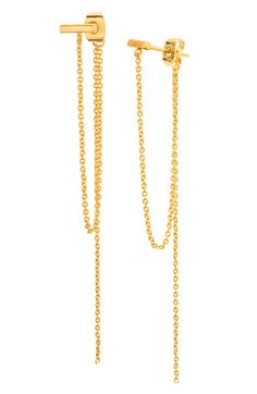 gorjana 'Nina' Chain Drop Earrings available at #Nordstrom