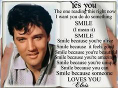 Elvis Presley Quotes, Elvis Quotes, Elvis Presley Images, If You Love Someone, I Love Him, Love You, Most Beautiful Man, Beautiful Smile, Good Smile