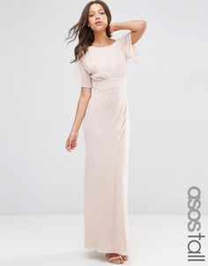 Image 1 of ASOS TALL WEDDING Soft Maxi Dress