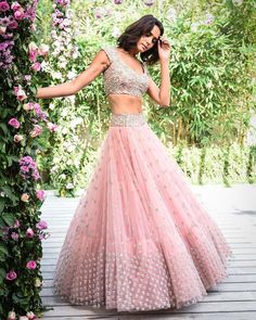 Explore from latest collection of lehengas online. Shop for lehenga choli, wedding lehengas, chaniya choli, ghagra choli & designer lehengas in variety of colors. Party Wear Indian Dresses, Indian Gowns Dresses, Party Wear Lehenga, Indian Wedding Outfits, Bridal Outfits, Indian Outfits, Party Dress, Wedding Dresses, Half Saree Designs